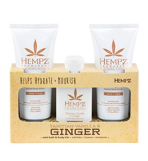 Hempz Vanilla & Ginger Mini Bath & Body Trio