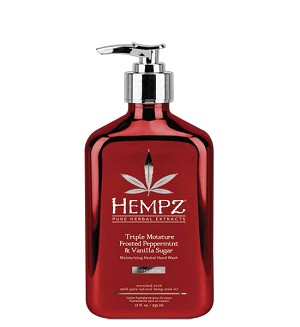 Hempz Triple Moisture Frosted Peppermint & Vanilla Sugar Moisturizing Herbal Hand Wash 12oz