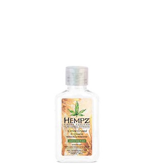 Hempz Fresh Fusions Citrine Crystal & Quartz Body Moisturizer 2.25oz Mini